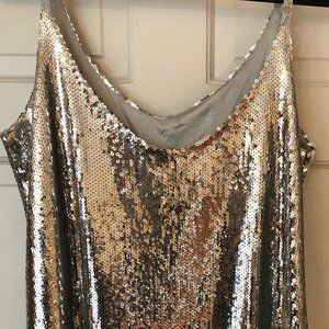 Silver,  Dress, Sequin, Party Dress,